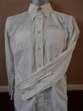 Stunning Mens White Diesel Shirt  With Purple Embroidery Designs - Size M