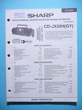 Manuel de reparation pour Sharp cd-jx20h, original