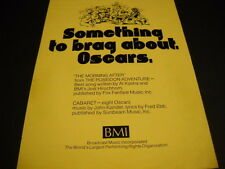 BMI 1973 Promo Display Ad CABARET - 8 Oscars MORNING AFTER - Posiedon Adventure