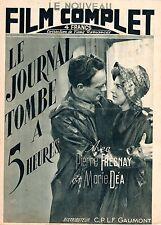 LE JOURNAL TOMBE A 5 HEURES PIERRE FRESNAY MARIE DEA (NOUVEAU FILM COMPLET) 1946