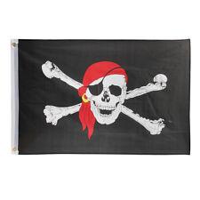 2x3 FT Skull Crossbones Jolly Roger Pirate Flag Boat Banner Decor w/ 2 Grommets
