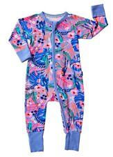 NEW BONDS RARE Girls Airlie Birds Pink Flora zippy Wondersuit - newborn / 0000
