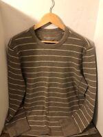 Eddie Bauer Mens Brown Crewneck Waffle Knit Thermal Long Sleeve shirt L