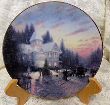 Thomas Kinkade Plate~Magic Of Christmas~1St Issue, Yuletide Memories~Bradex