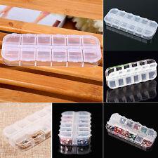 12 Compartment Empty Plastic Storage Box Rhinestones Nail Art Jewelry Container
