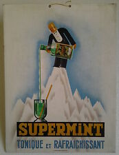 SUPERMINT par Jorge Morin  carton publicitaire ancien / PUB