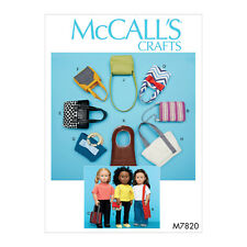 "McCall's 7820 Sewing Pattern to MAKE Fashion Bags for 18"" Doll Lots of Styles"
