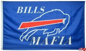 Buffalo Bills Mafia 3x5 Flag Man Cave Flag 3 x 5 Banner USA New Mancave Flags