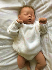 Beautiful Hand Knitted Baby Jumper, 6-9mths, White/Silver. FREE POSTAGE
