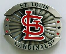 "St.Louis Cardinals Over-sized 4"" Pewter Metal Belt Buckle MLB Licensed"