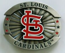 "St.Louis Cardinals Over-sized 4"" Pewter Metal Belt Buckle MLB Licensed"