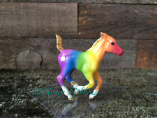 Breyer Model Horse Stablemate Running Foal Rainbow Paint Gold Points =)