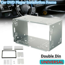 Universal 2 Din Metal Car Stereo Dvd Player Dashboard Installation Frame Kits (Fits: More than one vehicle)