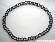 """Fashion springy Piano Wire art deco Defect 32"""" Spring Ring Necklace metal Womens"""