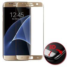 Protector pantalla cristal curvo templado 3D dorado Samsung Galaxy S7 Edge
