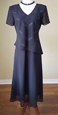 Karin Stevens Black Dress with Sparkly Crystal Embellishment NWOT sz 8