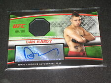 DAN HARDY 2010 TOPPS CERTIFIED UFC SIGNED AUTOGRAPHED FIGHTER WORN CARD 66/88