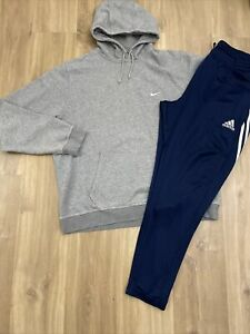Mens Nike Adidas Sports Bundle Tracksuit Joggers Hoodie Size XXL Good Con