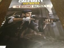 HUGE 27X19.5  CALL OF DUTY WWII Promo Poster Collectible