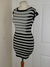 Jane Norman Stripe Dress Long Kaftan Tunic Size UK 10