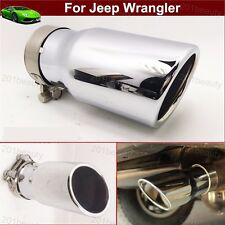 1pcs Exhaust Muffler Tail Pipe Tip Tailpipe Trim For Jeep Wrangler 2007-2018