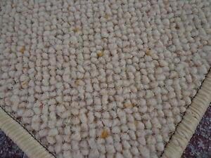 Berber Kettel Teppich 120 x 200 cm Natur 100% Schurwolle im Flor