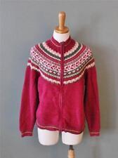 Ugly Christmas Sweater Jumper Women L Men M cardigan Fair Isle Nordic Tiara CS12