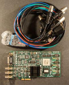 AJA KONA LSe PCI capture card with AJA 101884 Kona-l Breakout Cable
