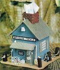 BAYSIDE TACKLE SHOP TISSUE BOX COVER PLASTIC CANVAS PATTERN INSTRUCTIONS