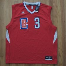 783761f3c9a20 Chris Paul LA Clippers Jersey Mens Red Adidas Replica Away Size 2XL NEW  70
