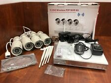 Floureon H.264 Wireless 4Ch P2P Security System Kit with 4 Cameras, Night Vision