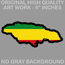 "Jamaica Jamaican Country Rasta Rastafarian 420 Decal Sticker 6"""