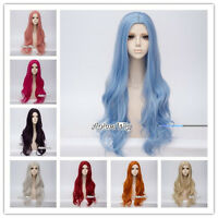 11 Colors 80CM Women Girls Long Wavy Lolita Fashion Party Synthetic Cosplay Wig
