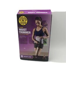 "Golds Gym Waist Trimmer Adjustable 8"" Width Fits up to 50"" Hook Loop Closure NEW"