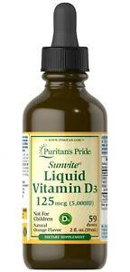 Puritan's Pride Liquid Vitamin D3 5000 IU, 2oz. bottle