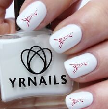 Nail WRAPS Nail Art Water Transfers Decals - Red Eiffel Tower - S598