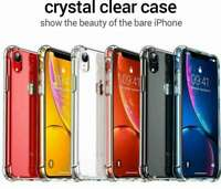 TPU Clear Case Soft Silicone Shockproof Tough Cover for iPhone 11 XR 8 7 6Plus 5
