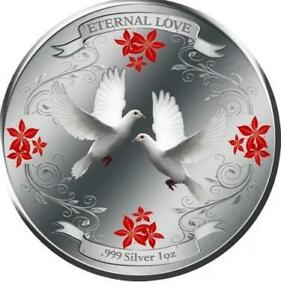 Niue Islands 2011 $2 Eternal Love 1oz LIMITED Silver Coin