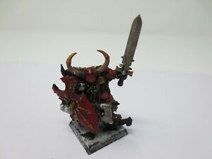 Warhammer Chaos Crom The Conqueror Chaos Champion Painted AOS Metal G253