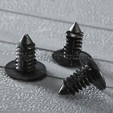 50 X 8mm Hole Plastic Black Rivets Fastener Push Clips For Car Auto Fender