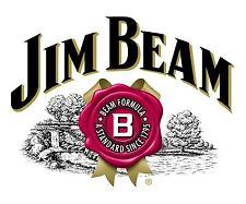 Jim Beam Sticker Decal Logo Diecut Whiskey Bourbon Alcohol Bar Vinyl 2 Stickers