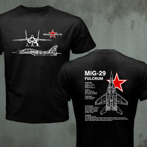 Mikoyan Mig-29 Fulcrum Russian Air Force Jet Fighter T-shirt