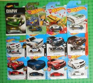 Hot Wheels - Various Years - BMW  - Lot of 12 - w/ M2, M3 & M4