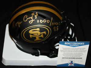 Roger Craig signed Eclipse Mini Helmet, San Francisco 49ers, Beckett BAS WG42898
