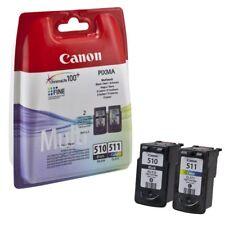 PACK de  2 CARTOUCHE s CANON PG-510 + CL-511 NOIR + COULEUR  / pg510 cl511noire