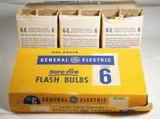 36 #6 Clear Sure-fire GE Flashbulbs - Class FP Standard-160 GN - New Old Stock