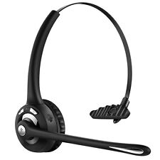 Over-the-Head Bluetooth Wireless Headset for Drivers, Noise Canceling with MIC