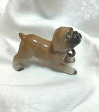"""Porcelain Pug Dog Figurine Vintage 3"""" x 1.75"""""""