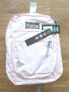 """New W/ Tag Tans Jansport Supermax 2200 Cu Inch Pink Mist 15"""" Laptop Backpack"""