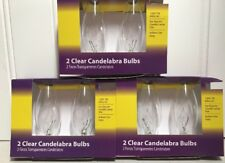 Lot Of 3 2 Pk Clear Candelabra Replacement Bulbs Candelabra Base